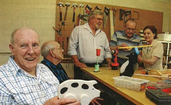 Mens shed receives funding.